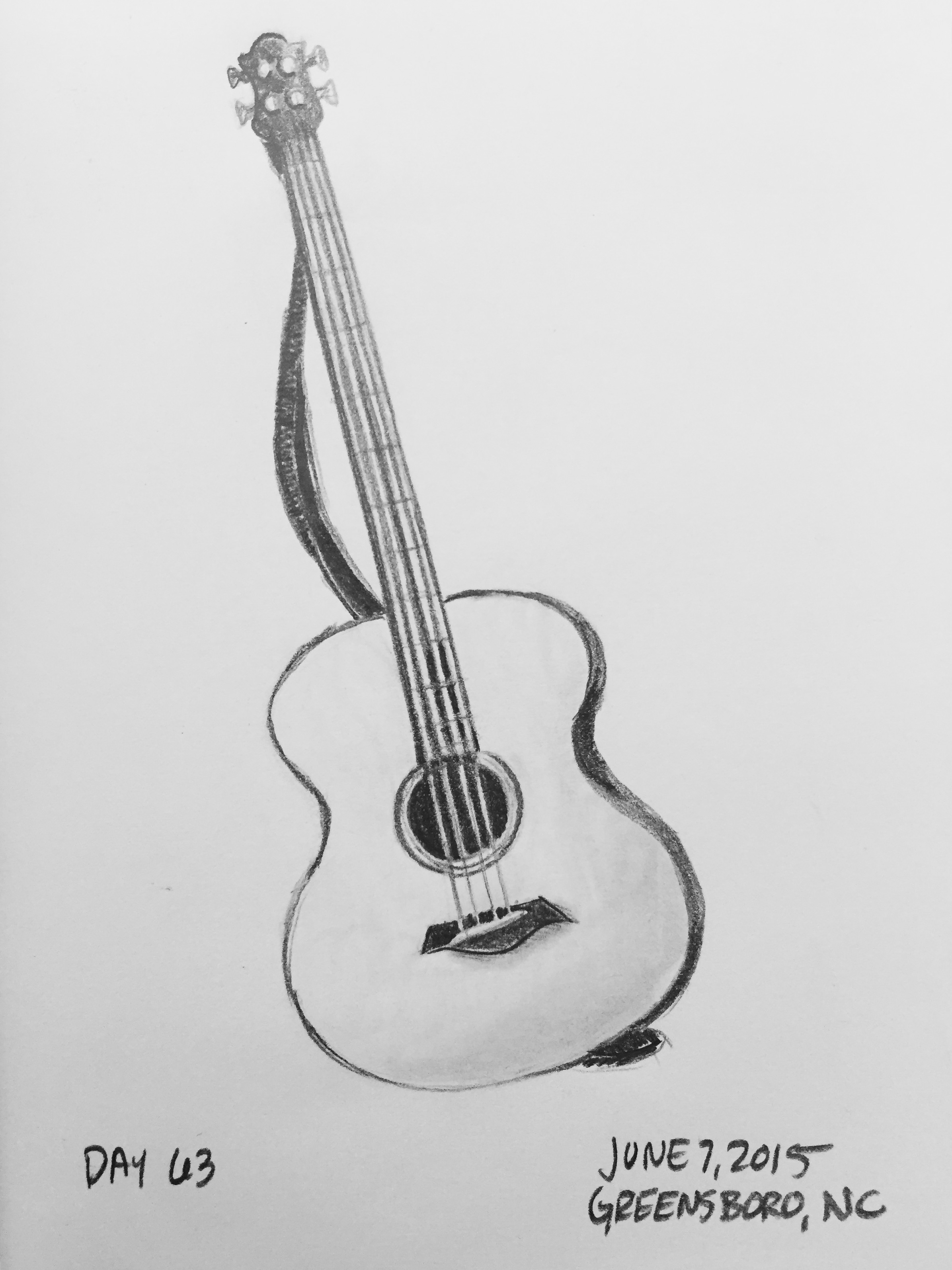 How To Draw Kirk Hammetts Esp Electric Guitar Step 5 Pencil