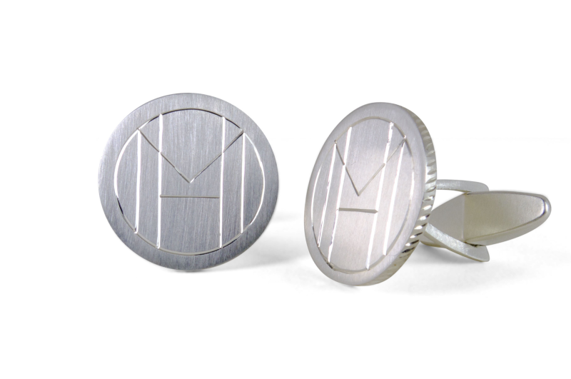 Monogram Cufflinks White